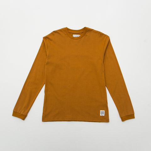 Basic T Shirt (Long Sleeve) - Mustard - A Store
