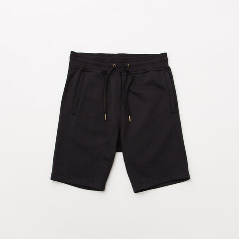 Relaxed Fleece Shorts - Black - A Store