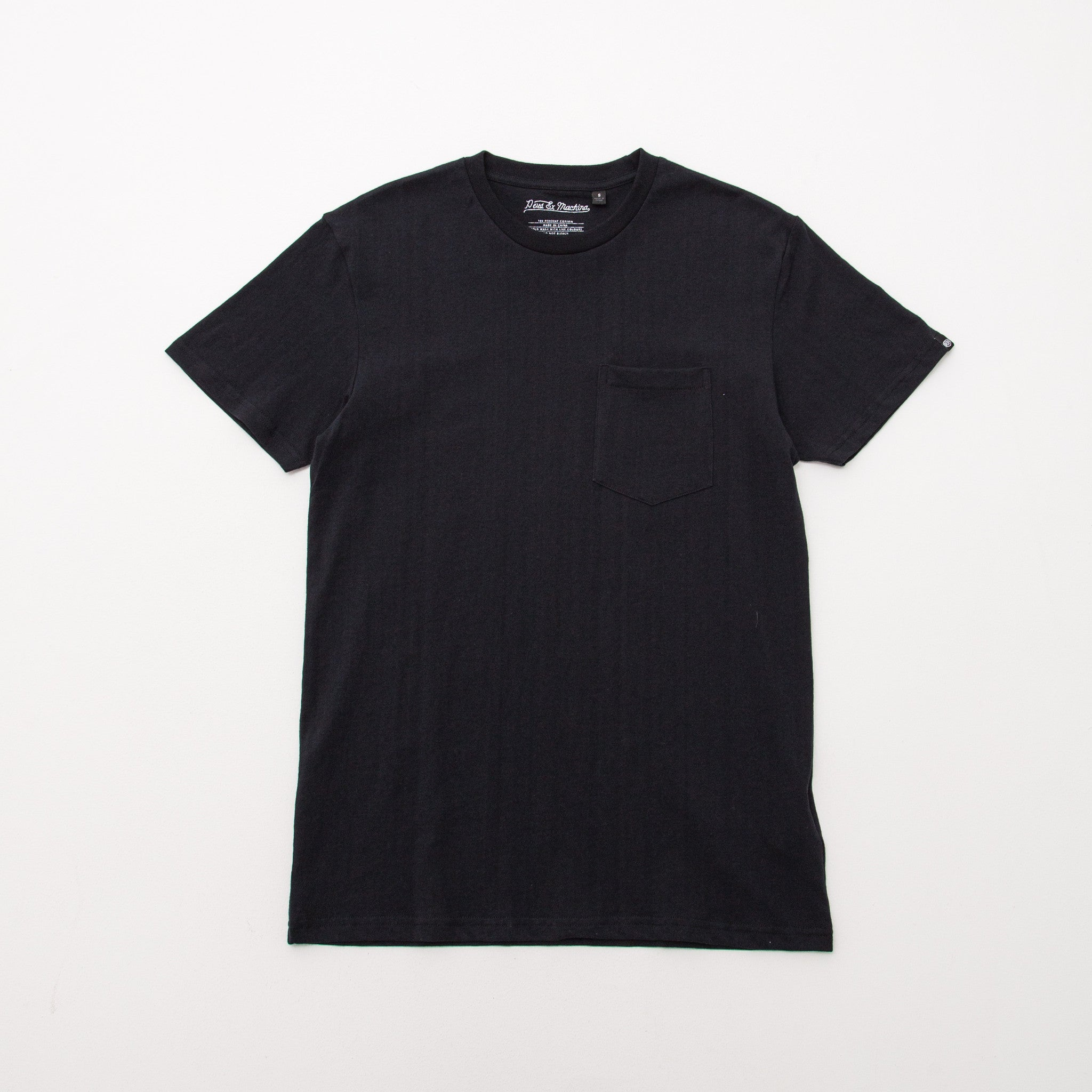 Crew Neck T Shirt - Black