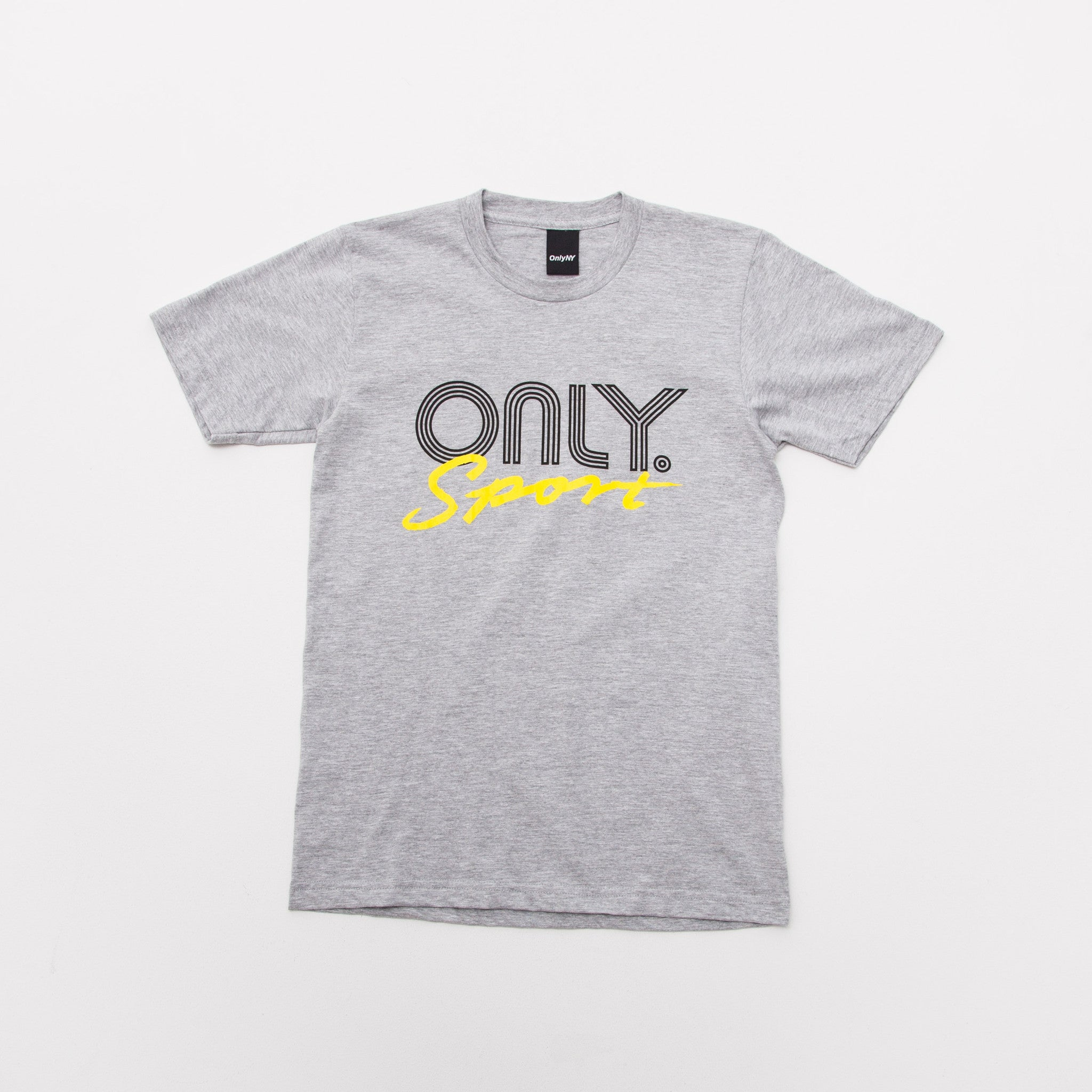 Only NY Rally T Shirt Heather Grey front