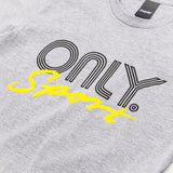 Only NY Rally T Shirt Heather Grey chest logo