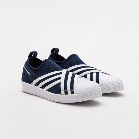 adidas White Mountaineering Superstar Slip On Sneakers - Collegiate Navy / Ftwr White BY2879 | AStore