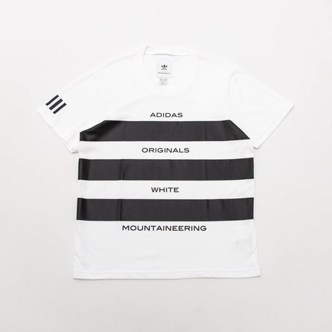 adidas White Mountaineering AOWM T Shirt - White / Black BQ0972 - Front