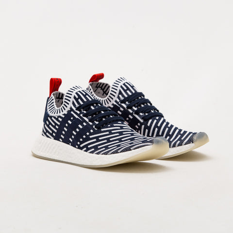 adidas NMD_R2 Primeknit Sneakers - Navy / White BB2909 | AStore