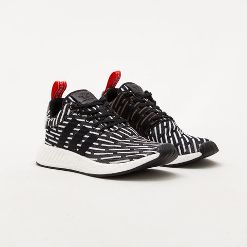 adidas NMD R2 Primeknit Sneakers - Core Black / Footwear White BB2951 | AStore