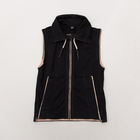 Day One Sleeveless Track Top - Black