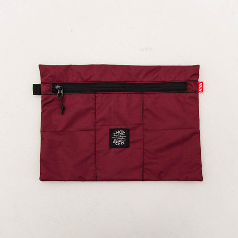 Not Seen Tobacco A4 Pouch - Maroon - Front | AStore
