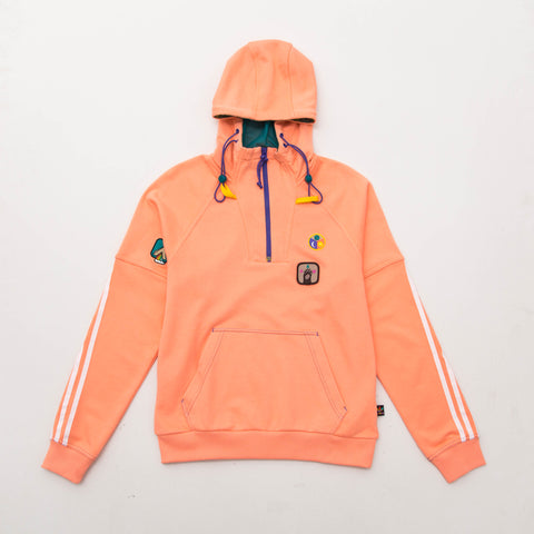Pharrell Williams HU Hooded Sweatshirt - Sun Glow / Green