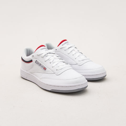 Club C 85 - Sptlt White / Collegiate Navy / Red - A Store