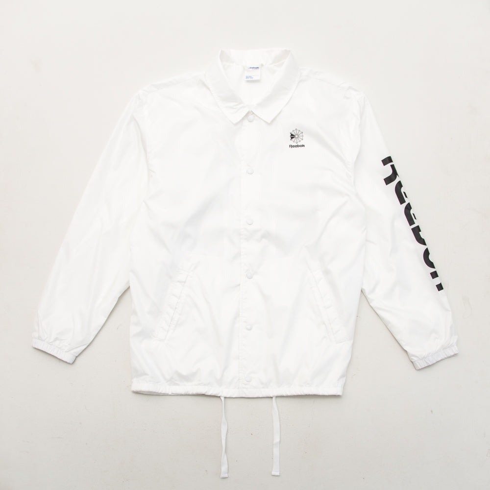 Graphic Windbreaker - White - A Store