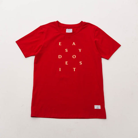 Easy Does It Tee - Red - A Store