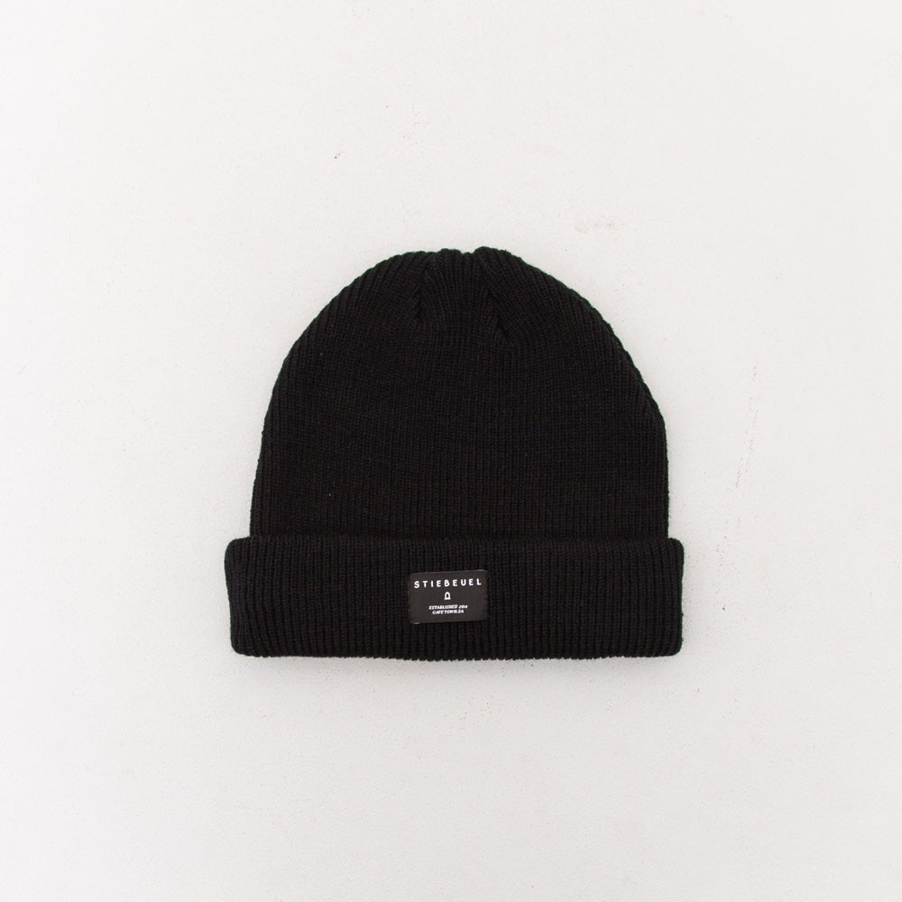 Logo Beanie - Black / Black Patch - A Store