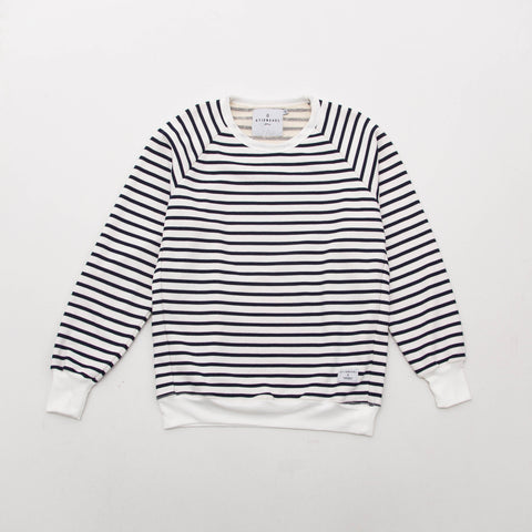Striped Sweater - White / Blue