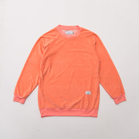 Velour Raglan Sweater - Peach