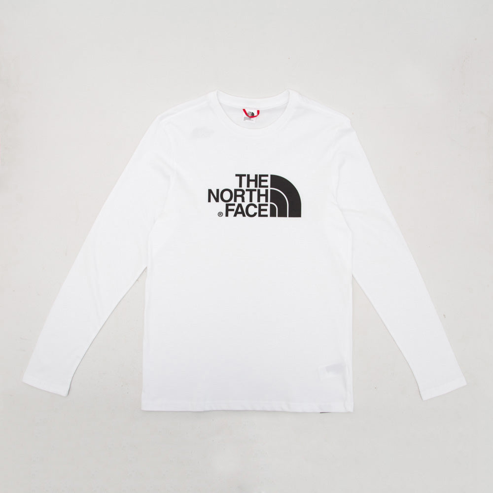 Easy LS Tee - White - A Store