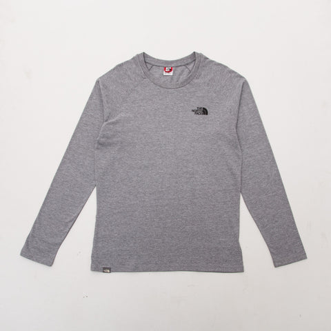 Simple Dome Raglan LS Tee - Light Grey Heather