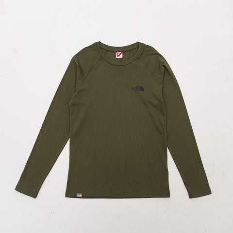 Simple Dome Raglan LS Tee - Olive Green