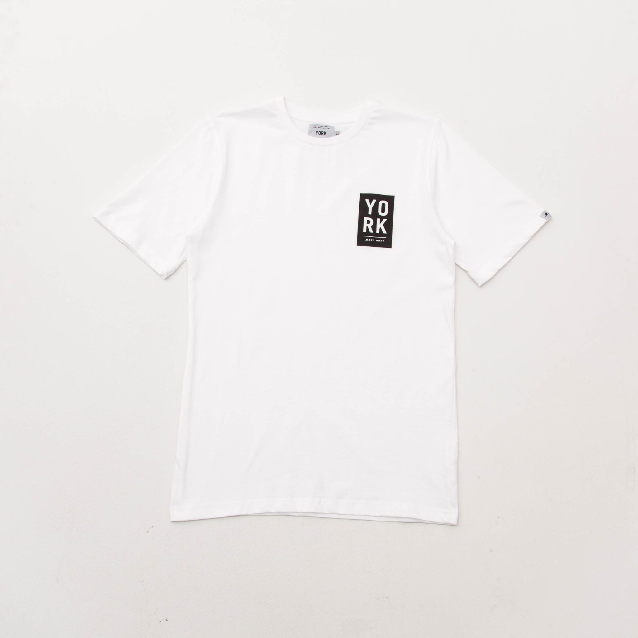 Block Tee - White - A Store
