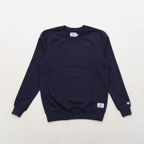 York Plain Crew Sweater - Navy