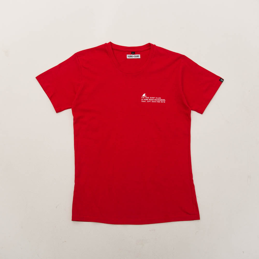 Tip Toe Club Tee - Red