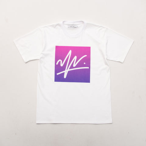 Gradient Box Tee - White - A Store