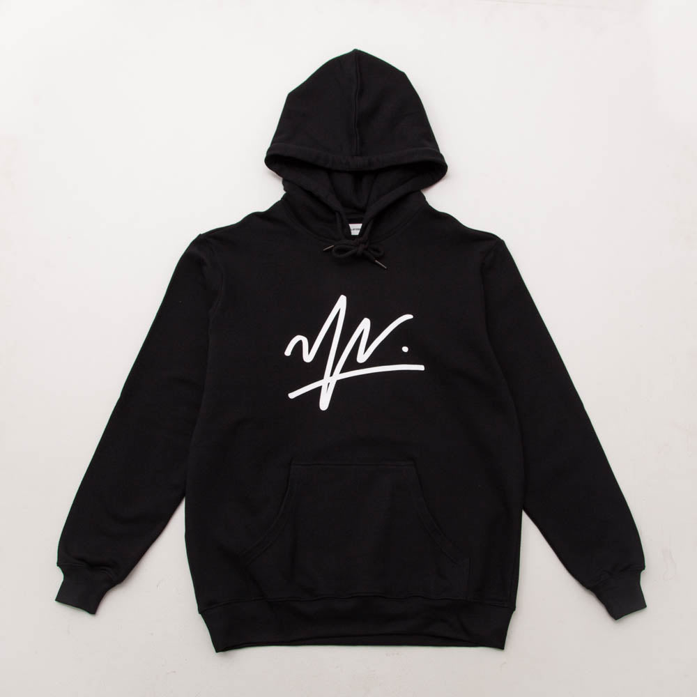 Young & Lazy Signature Hoody - Black - Front | A Store