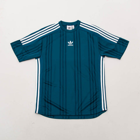 3-Stripes Jacquard Jersey - Turquoise / Real Teal / White
