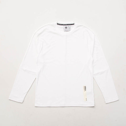 NMD Crewneck LS T-Shirt - White - A Store