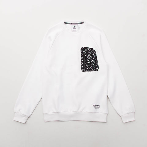 adidas NMD LG Crew Sweater - White BS2490 - Front | AStore