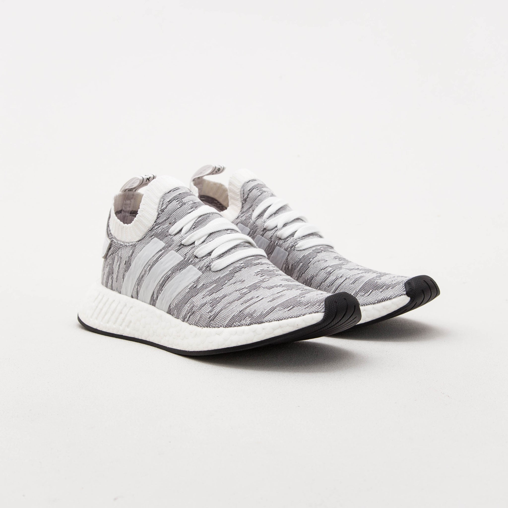 adidas NMD_R2 Primeknit Sneakers - Grey / White BY9410 | Astore