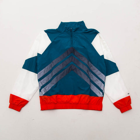 V Stripes Windbreaker - Blue / Red