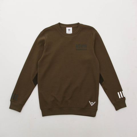 adidas White Mountaineering Crew Sweatshirt - Green BQ4113 - Front | AStore