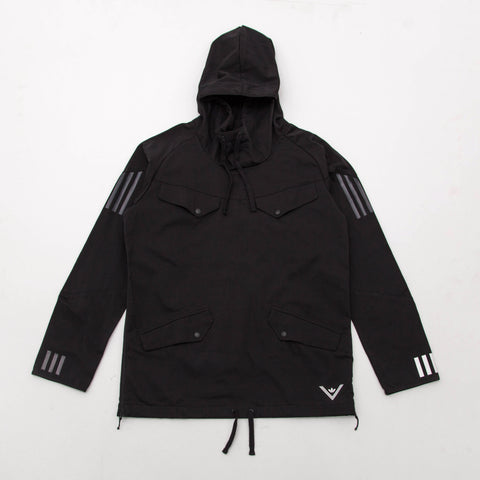 adidas White Mountaineering Pullover Jacket - Black BQ4123 - Front | AStore