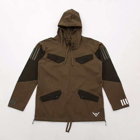 adidas White Mountaineering Pullover Jacket - Olive BQ4126 - Front | AStore