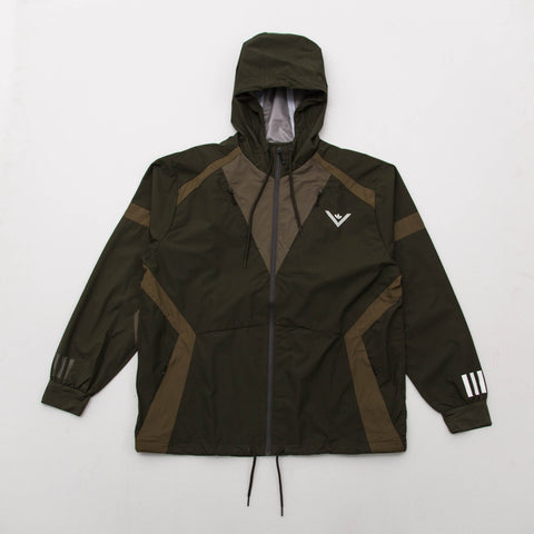adidas White Mountaineering Windbreaker - Night Olive BQ4071 - Front | AStore