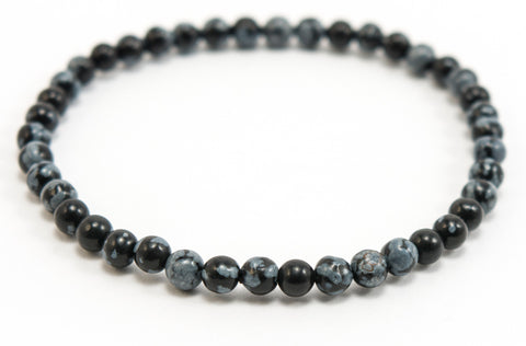 everything_soulful_Snowflake_Obsidian_Bracelet