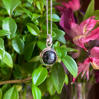 Strength and Protection Pendant: Black Onyx (Sterling Silver)