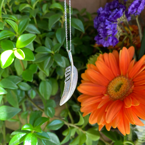 Freedom and Evolution Feather (Sterling Silver)