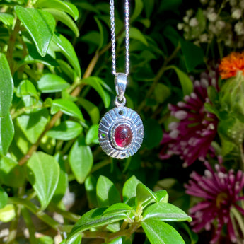 Lighten Up Pendant: Garnet (Sterling Silver)