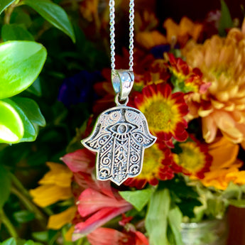 Protection Amulet: Hamsa Hand (Sterling Silver)