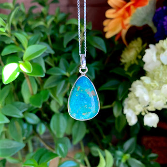 Communication Pendant: Chrysocolla (Sterling Silver)
