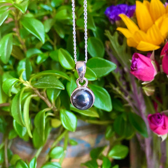 Grounding and Protection Pendant: Hematite (Sterling Silver)