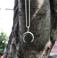 Crescent Moon: Lunar Energy Sterling Silver Pendant