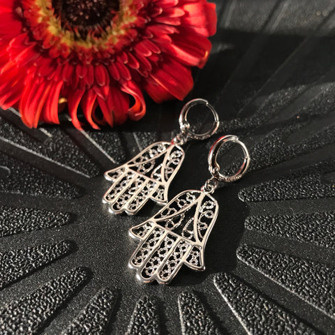 Hamsa Hand Amulet Earrings