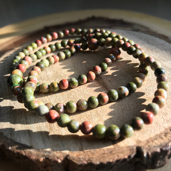 Cleansing and Releasing: Unakite Bracelet
