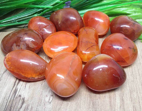 Carnelian: Motivation and Courage Tumbled Stone