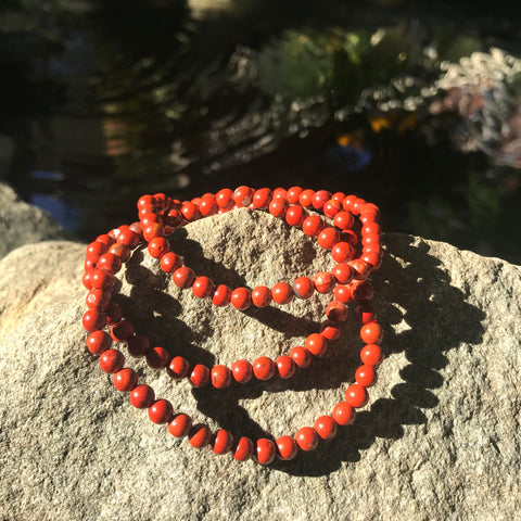 Grounding and Take Action Bracelet: Red Jasper