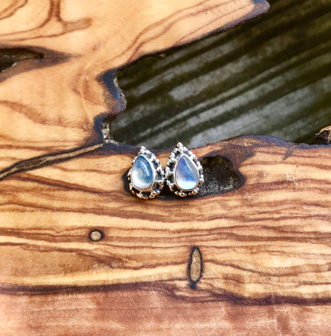Moonstone: Insight and Balance Sterling Silver Studs
