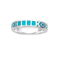 Turquoise Tribal Sterling Silver Ring