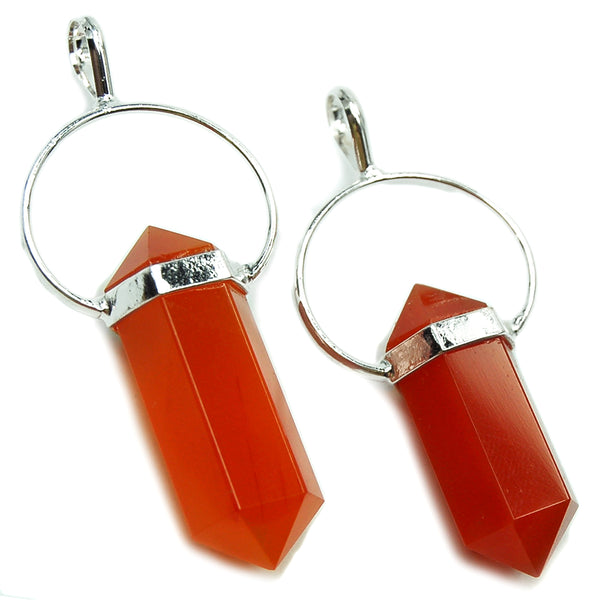 Motivation Pendant: Carnelian (silver plated)